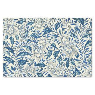 "Vintage Blue Oriental Decor FloralPattern 10"" X 15"" Tissue Paper"