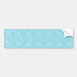 Vintage Blue Pattern Bumper Sticker