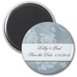 Vintage blue save the date magnet