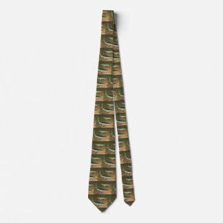 Vintage Blue Shark Eating Fish, Marine Life Tie