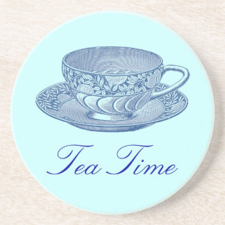 Vintage Blue Tea Cup Coaster