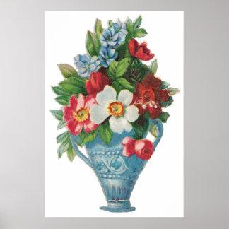 Vintage Blue Vase Poster