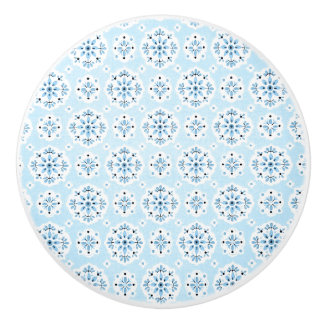 Vintage Blue Wallpaper Ceramic Knob