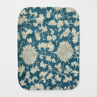 Vintage Blue  & White Floral Print Burp Cloth