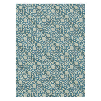 Vintage Blue  & White Floral Print Tablecloth