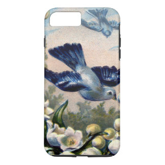 vintage bluebirds flowers lily of the valley birds iPhone 7 plus case