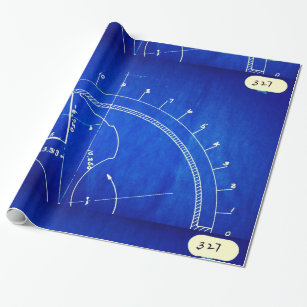 Blueprint craft supplies zazzle vintage blueprint diagram no 327 wrapping paper malvernweather Images