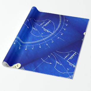 Blueprint wrapping paper zazzle vintage blueprint diagram no 327 wrapping paper malvernweather Image collections