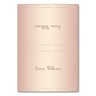 Vintage Blush Place Cards Simple Table Card