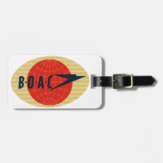 Vintage BOAC Airline Logo Luggage Tag