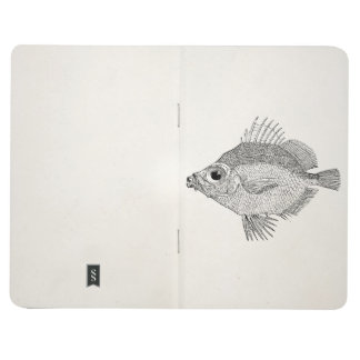 Vintage Boar Fish - Aquatic Fishes Template Blank Journal