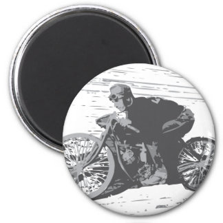 Vintage Board Track Motorcycle Racer#3 6 Cm Round Magnet