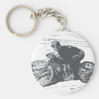 Vintage Board Track Motorcycle Racer#3 Key Chain