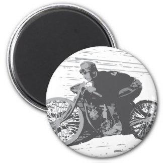 Vintage Board Track Motorcycle Racer#3 Fridge Magnet