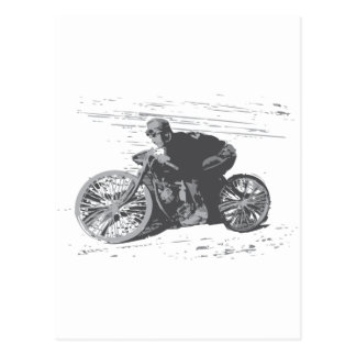 Vintage Board Track Motorcycle Racer#3 Postcard