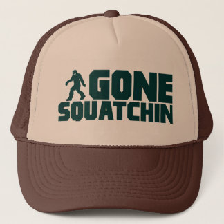 vintage Bobo GONE SQUATCHIN Hat Finding Bigfoot