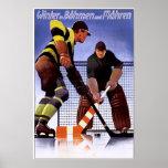 Vintage Bohman und Mahren Hockey Print