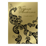 Vintage Boho Chic Paisley Elegant Floral Peacock Pack Of Chubby Business Cards