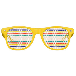 Vintage Bold Striped Party Shades Sunglasses
