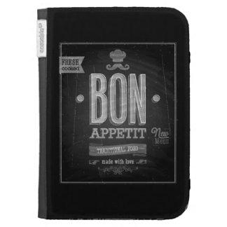 Vintage Bon Appetit Poster - Chalkboard Kindle Cover