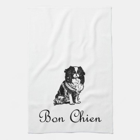 Vintage Bon Chien Good Dog Pet Tea Towel