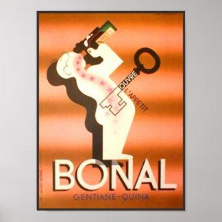 Vintage Bonal Gentiane Quina Poster