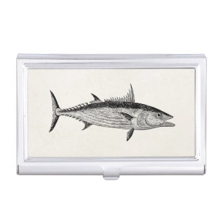 Vintage Bonito Fish - Aquatic Fishes Template Business Card Holder