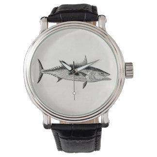 Vintage Bonito Fish - Aquatic Fishes Template Watch