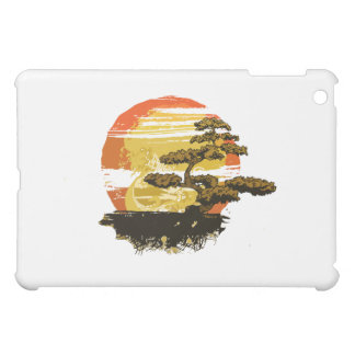 Vintage bonsai tree graphic in sepia tones no back cover for the iPad mini