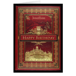 Vintage Book Cover Birthday Card