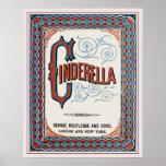 Vintage Book Cover Cinderella Poster