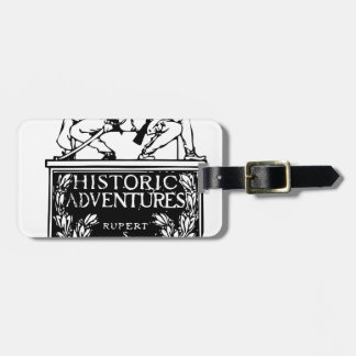 Vintage Book Cover - Historic Adventures Luggage Tag