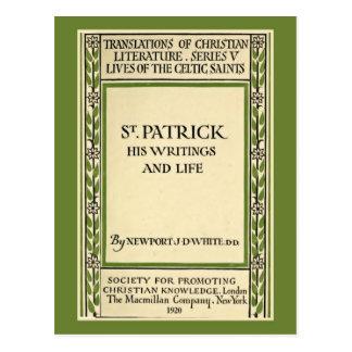 vintage book cover memoirs of St. Patrick Postcard