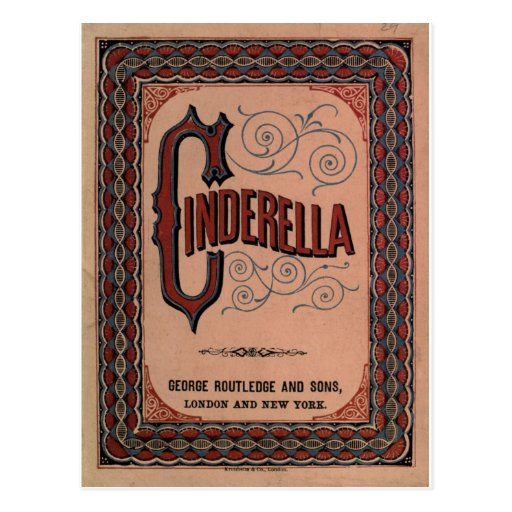 Vintage Book Cover - The Classic Tale: Cinderella Post Cards