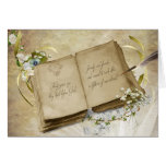 Vintage book for 30th Wedding Anniversary Greeting Card