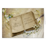 Vintage book for 50th Wedding Anniversary Greeting Card