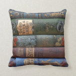 Vintage Book Library Collection Cushion Throw Pillow