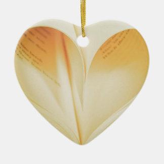Vintage book love heart sign ceramic heart decoration