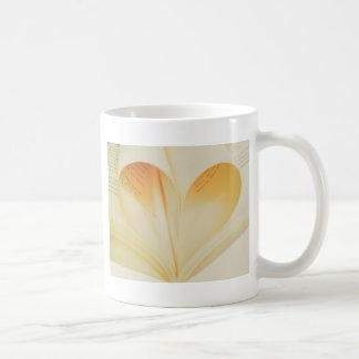 Vintage book love heart sign coffee mug