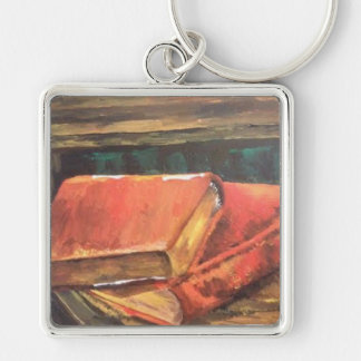 Vintage book painting on a Key Chain