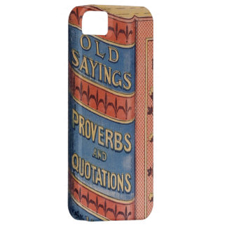 Vintage Book Sayings Proverbs Grandparents Gift iPhone 5 Cases