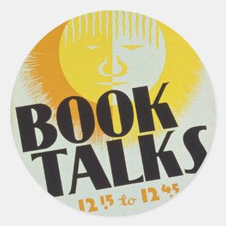 "Vintage ""Book Talks"" Stickers"