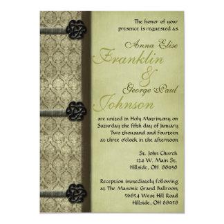 Vintage Book Wedding Invitation