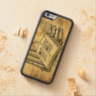 Vintage Books Carved Maple iPhone 6 Bumper Case