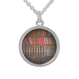 Vintage Books Round Pendant Necklace
