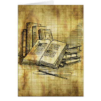 Vintage Books Note Card
