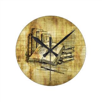Vintage Books Round Clock