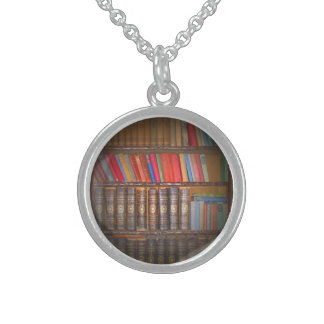 Vintage Books Round Pendant Necklace