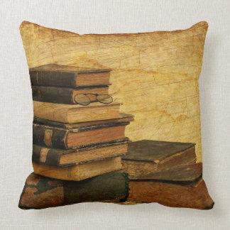 Vintage Books Square Throw Pillow