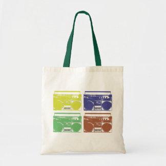 Vintage Boombox Design Tote Budget Tote Bag